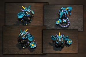 Linum the Baby Flower Dragon by KirstenBerryCrafts