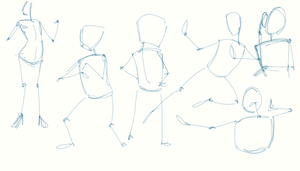 Gesture drawing with stick men by ArtiestDesign