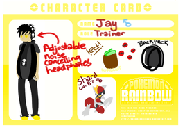 PR Character Card: Jay by Not-Even-The-Turtle