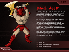 Nintober #113. Death Adder by fryguy64