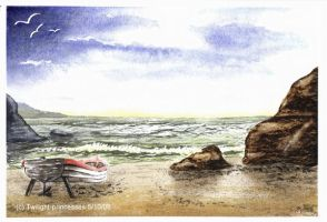 Seascape- watercolour by Katzel