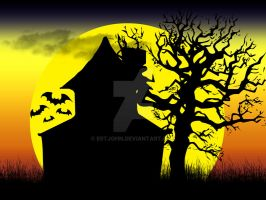 Haunted House at Sunset by estjohn