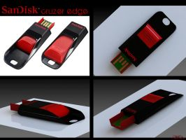 Sandisk flashdrive render by M667