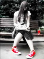 red converse by Bembie