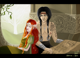 Yavanna and Aule by Adelaiy