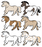 Horses Adopts 1 - 10 pts by WolverineGuardian