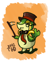 Dapper Snivy by TheGreekDollmaker