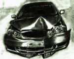 Wrecked Toyota Corolla Complet by osamashaikh