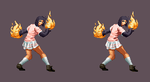 Quick spritework - X1 fire punch pose by DOA687
