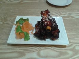 2016-11-12 Chinese food 01 Honey Spare Ribs by WhippetWild