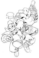 Skullkickers Coloring Page! by edwinhuang