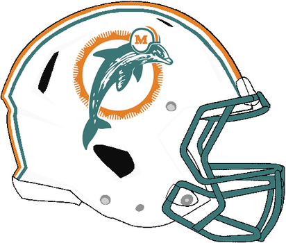 Revolution Speed Dolphins 1990-1996 Helmet by Chenglor55