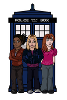 The TARDIS Chicks by LittleInky