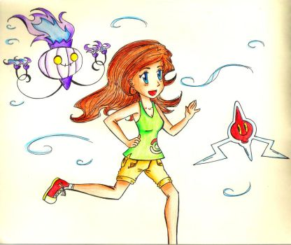 Running with Pokemon by AshwathiNK