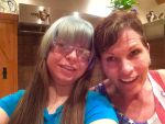 New hair cut with mom :3 by Stormdeathstar9
