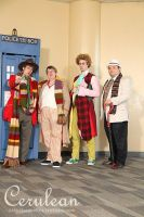 Doctor Who Photoshoot: The four Doctors by StrangeStuffStudios