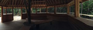 Panorama of the Tree House by AmericanWolf016