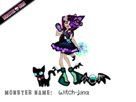Monster high entry Witch Lina by CrystaltheEchidna