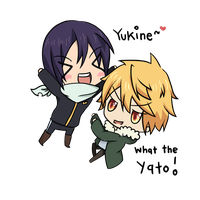 - Noragami - Chibi! Yato and Yukine by Choconutcream