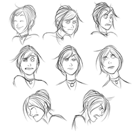 Facial Expressions Sheet for WhiteEclipse18 by Py-Bun