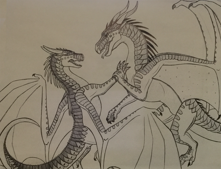 Wings of Fire: Darkstalker confronting Clearsight by Iron-Zing