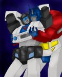 Jazz and Optimus by Darkenlite
