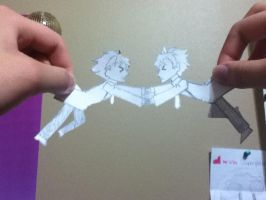 hitachian twin paperart by devil-licious