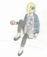 Lilith with an orange by Orangejuicegod