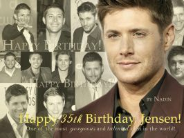 Happy 35th Birthday, Jensen! by Nadin7Angel