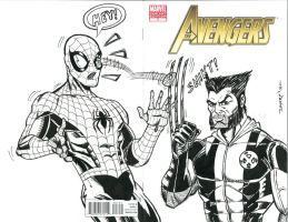AVENGERS #7 SKETCH COVER 5 by FanBoy67