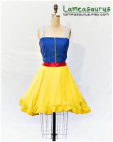 Snow white retro style dress by Lameasaurus-etsy