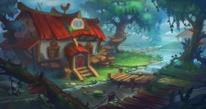 House in the forest by lepyoshka