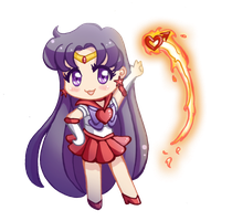 Sailor Mars - Chibi by drewbiedooah