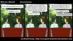 Men on a Bench-Disorientation by Renegade-Hamster