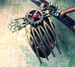 Steampunk Hair Comb: Pirate Formal by random-wish