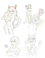 Homestuck doodles by Pandablubb