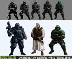 Shading Military Materials - Video Tutorial Series by ConceptCookie