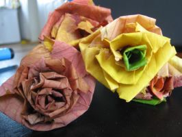 Autumn roses 2 by Bast-Fury
