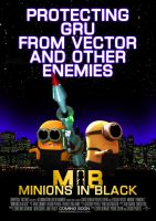 Minions in Black Poster by Alecx8