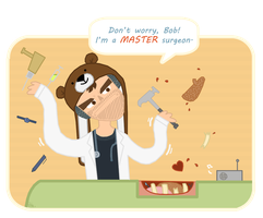 Dr. Ken, the master surgeon by ScribbleNetty