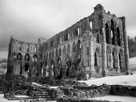 Riveaulx Abbey (infrared) by GaryTaffinder