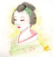 Watercolour Geisha by Jashi-Chan