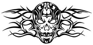 Tribal SKull by DotCommunist