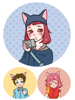 FLCL Buttons by strawbanna