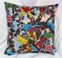 Marvel pillow by quiltoni