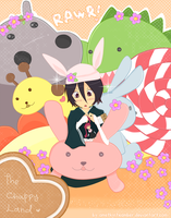 Rukia in the Chappy Land by amethystxamber