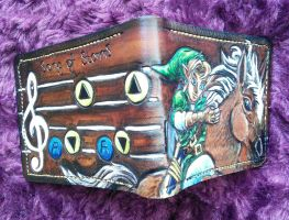 Zelda Wallet, Link riding Epona, and Song of Storm by mooglestiltzkin