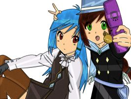 Me and Jukebox Cosplaying as Franziska and Trucy. by Pearl900