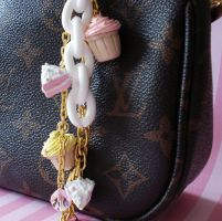Cupcakes and Cake Bag Charm by FatallyFeminine