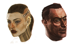 quick mass effect portraits by lely91